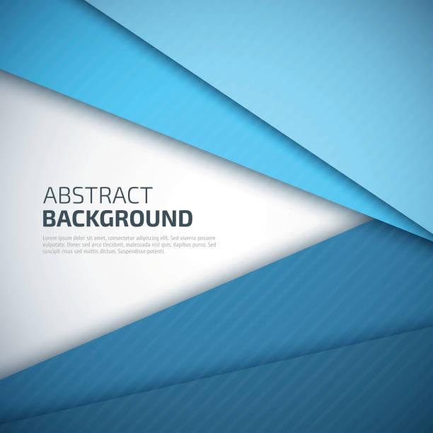 stockillustraties, clipart, cartoons en iconen met blue paper layers abstract vector background. - triangel