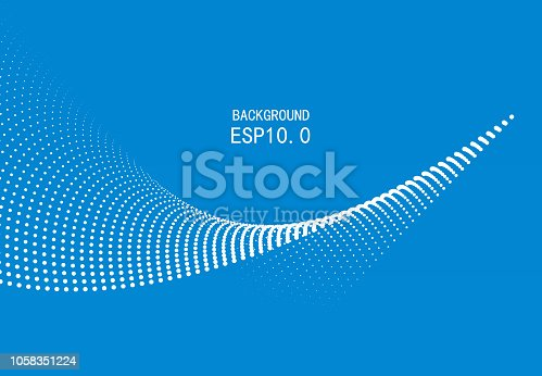Blue particle curve background