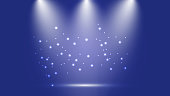 Blue party background with stars and lights vector