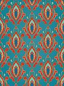 Blue pattern with damask.