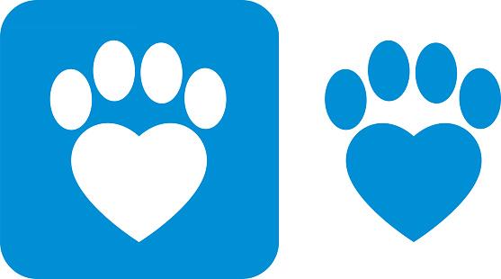 Blue Paw Print Icons