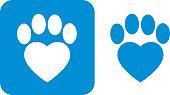 istock Blue Paw Print Icons 1028963942