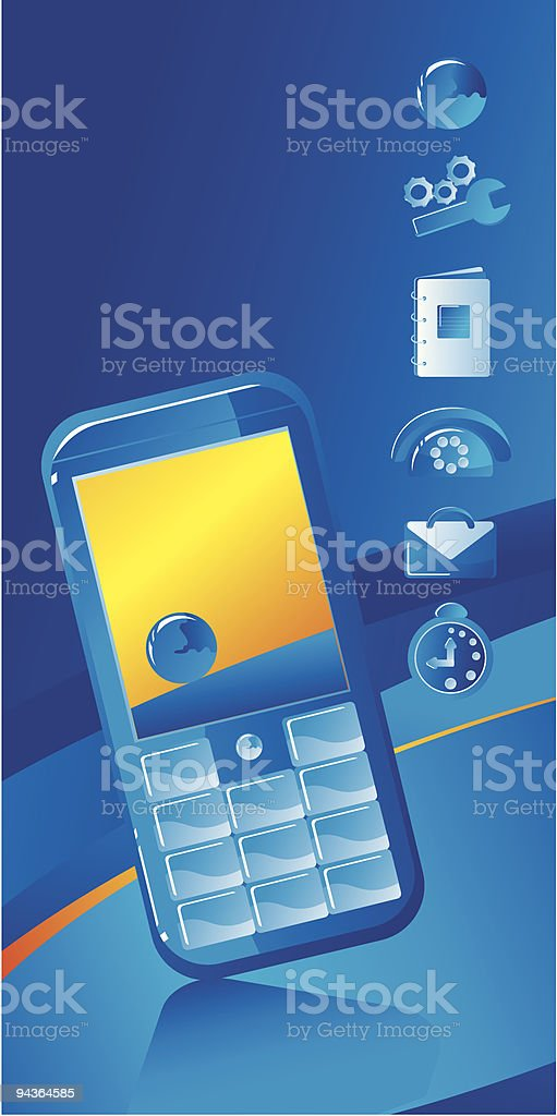 blue phone icon royalty-free blue phone icon stock vector art & more images of bag