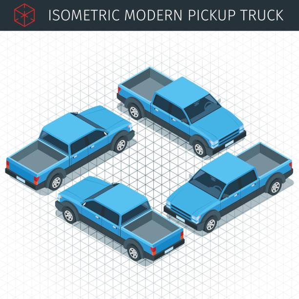 Best Back Of Pickup Truck Illustrations Royalty Free Vector