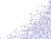 blue pixels on a corner frame design