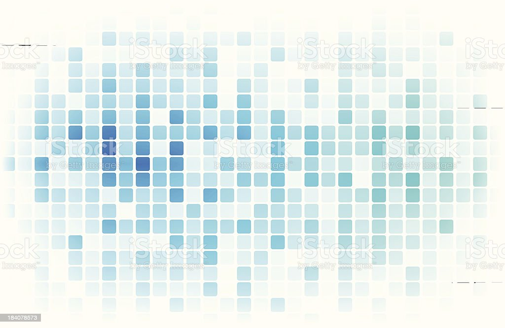 Blue pixels - VECTOR royalty-free stock vector art
