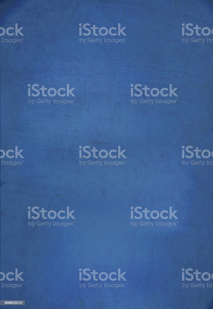 Blue plain grungy background vector art illustration