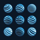 Blue planet icons