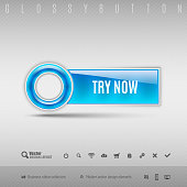 Blue Plastic Button