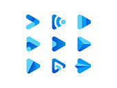 istock Blue Play Media Button Logo 1297467399