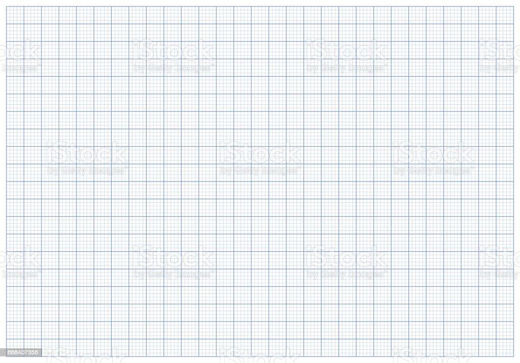 Blue plotting graph grid paper background vector art illustration