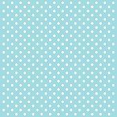 Blue Polka Dots Vector Background - VECTOR