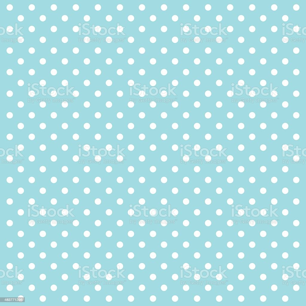 Blue Polka Dots Vector Background - VECTOR vector art illustration
