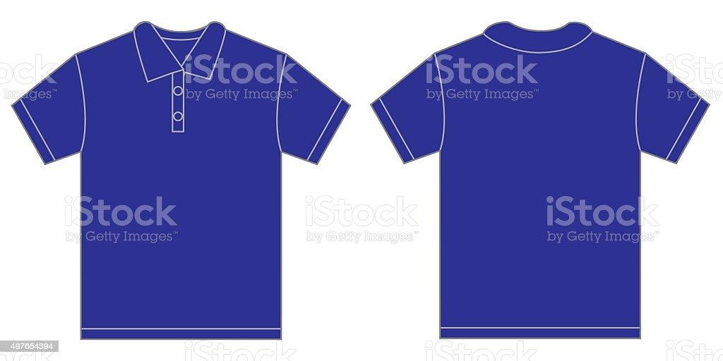 Blue Polo Shirt Design Template For Men vector art illustration