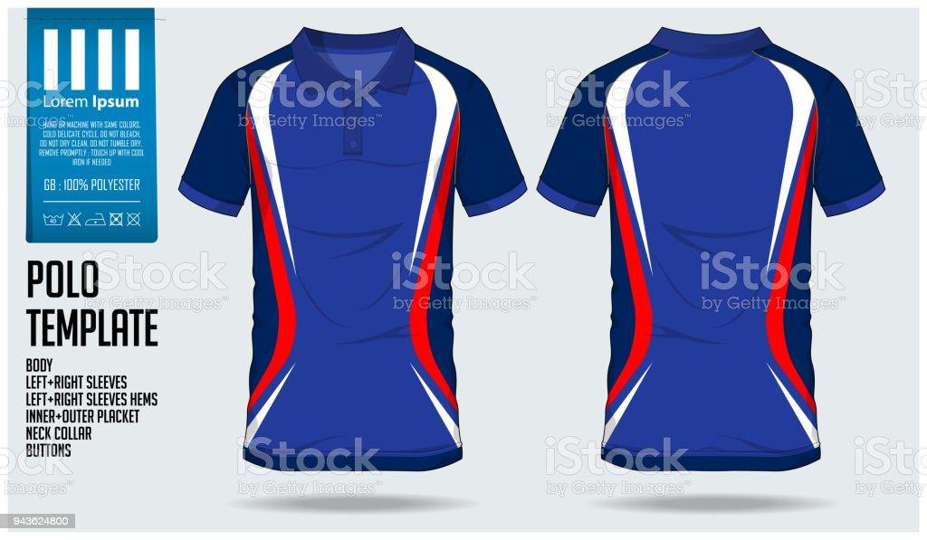afdd91ba3c350 Ilustración de Blue Polo Camiseta Plantilla Diseño Para Camiseta De ...