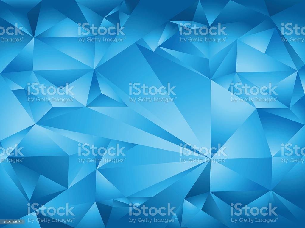 blue polygon background vector art illustration