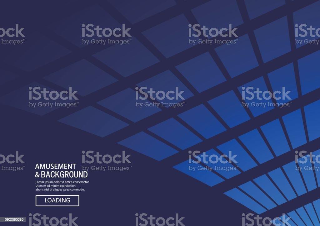 Mavi çokgen arka plan vektör sanat illüstrasyonu
