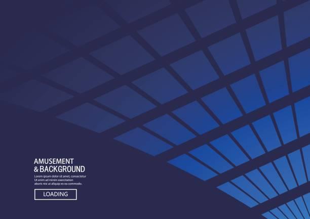 polygon Fundo azul - ilustração de arte em vetor