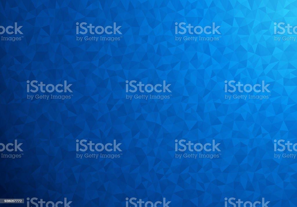 polygonal Fundo azul - ilustração de arte em vetor