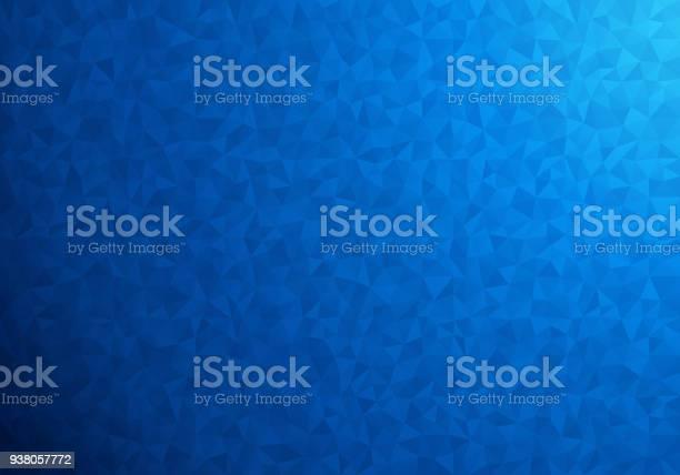 Vetores de Polygonal Fundo Azul e mais imagens de Abstrato
