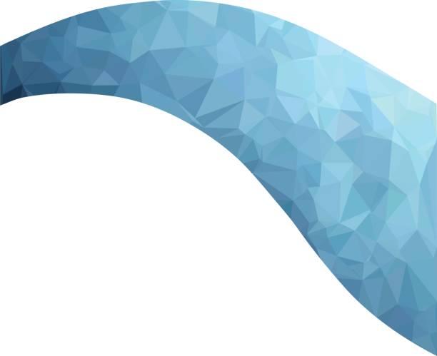 Blue Polygonal Mosaic Background, Creative Design Templates vector art illustration