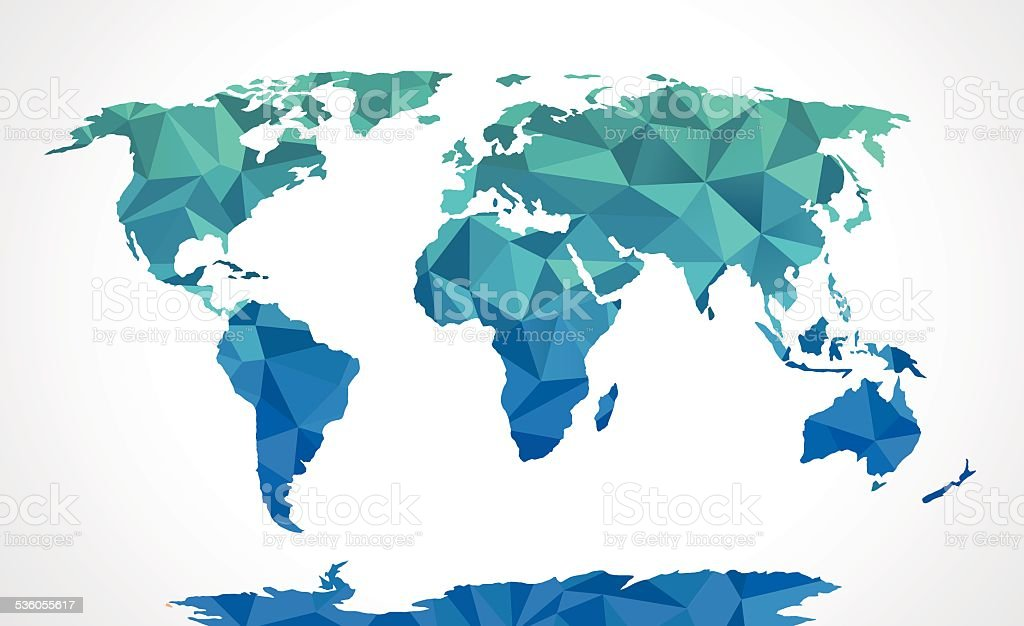 Blue polygonal world map vector stock vector art more images of blue polygonal world map vector royalty free blue polygonal world map vector stock vector art gumiabroncs Gallery