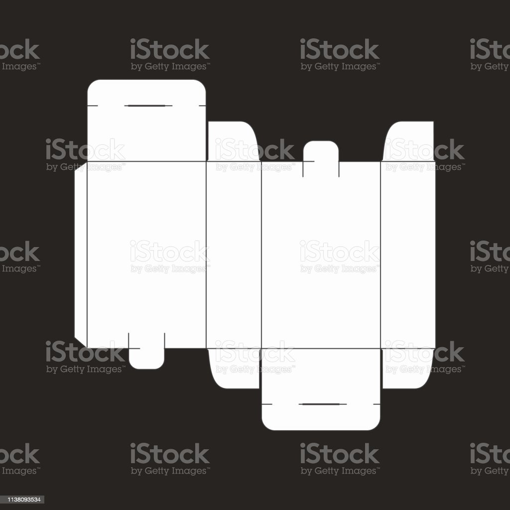 Blue print packaging vector isolated on black background.
