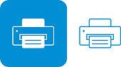 istock Blue Printer Icons 1027361772