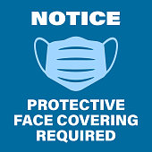 istock blue protective face covering required sign with face mask symbol 1252720740