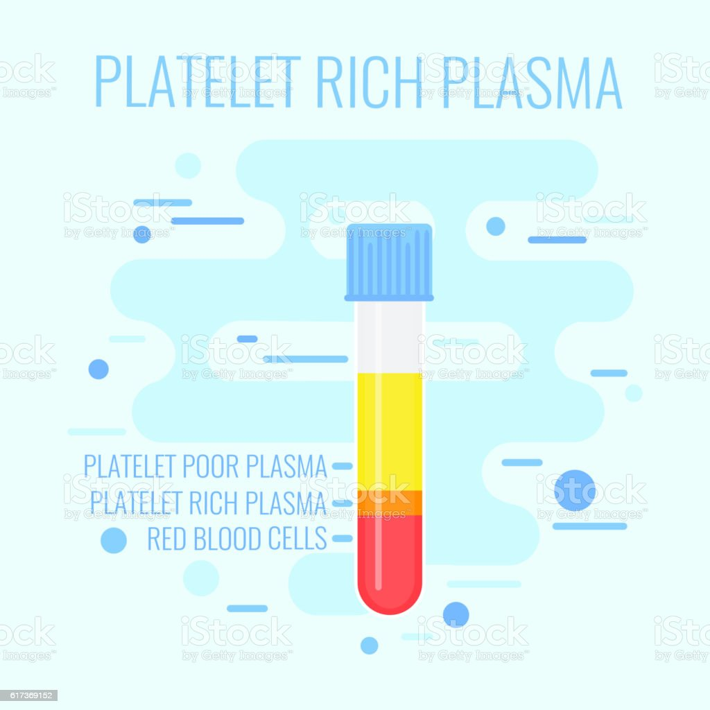 Blue PRP test tube vector art illustration