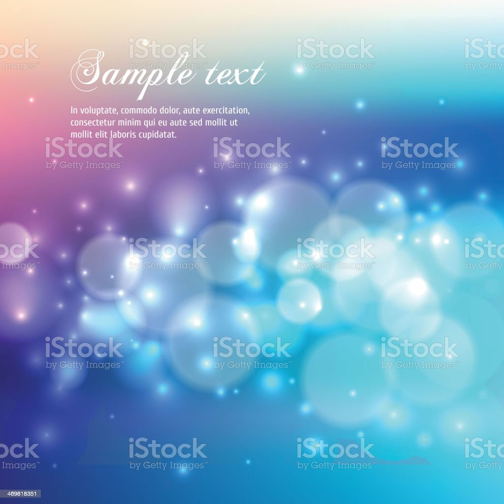 Blue, purple and pink background with bubbles royalty-free stock vector art