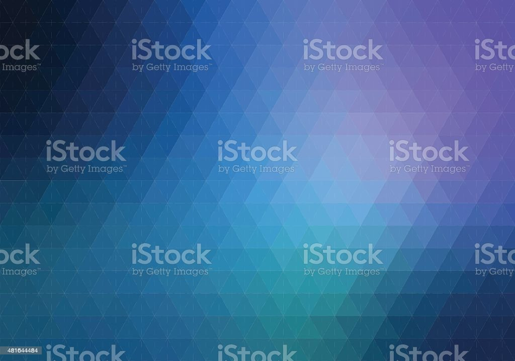 Blue purple hexagon background with lines vector art illustration