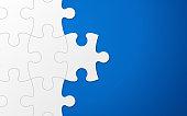 Blue Puzzle Piece Background