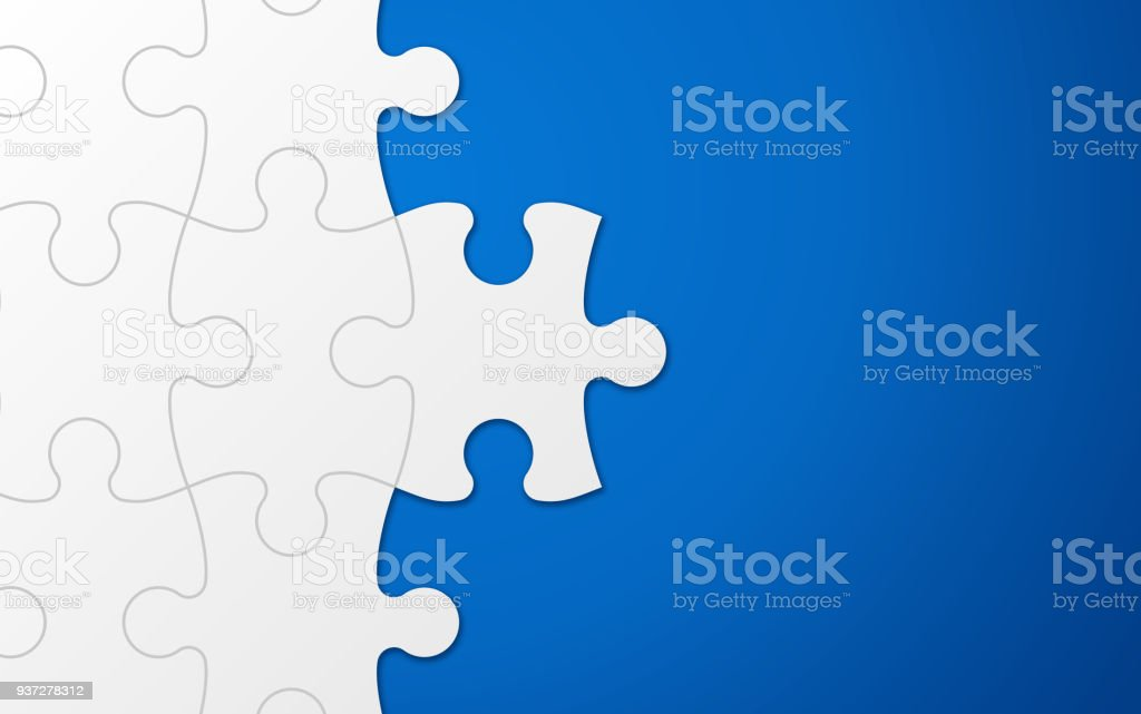 Fundo de peça do Puzzle azul - ilustração de arte em vetor