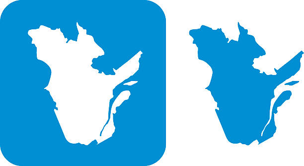 Blue Quebec Icon Vector illustration of two blue Quebec icons. quebec stock illustrations