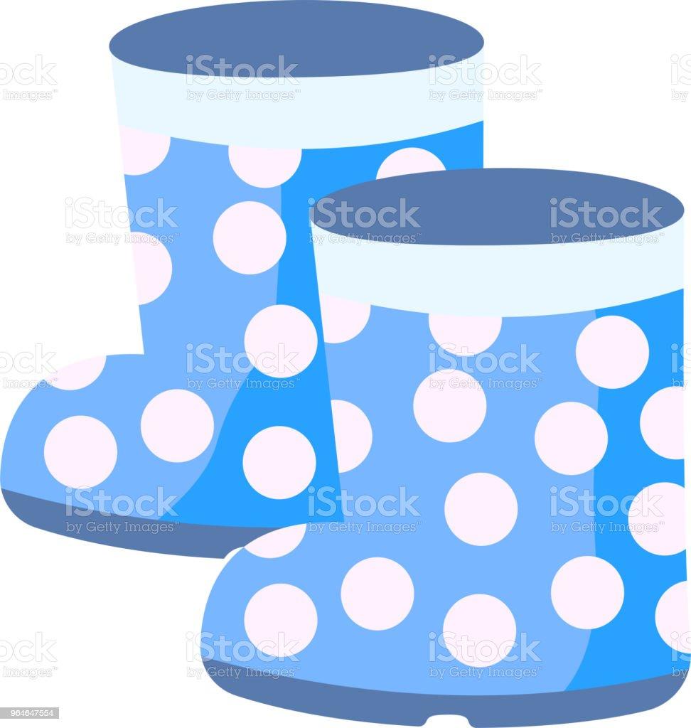 Blue rain boots illustration royalty-free blue rain boots illustration stock vector art & more images of art product