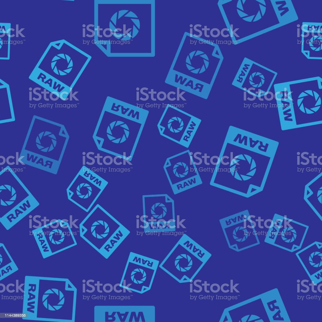 Blue Raw File Document Icon Download Raw Button Icon Isolated