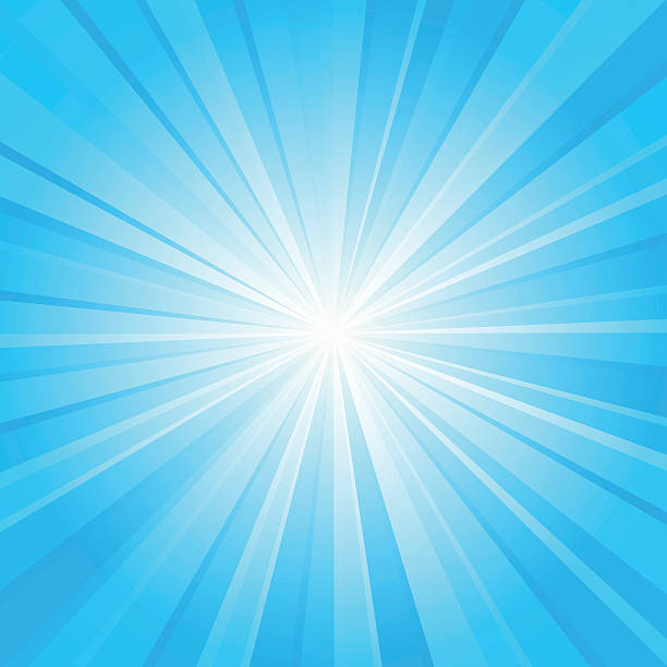blue ray background vector art illustration