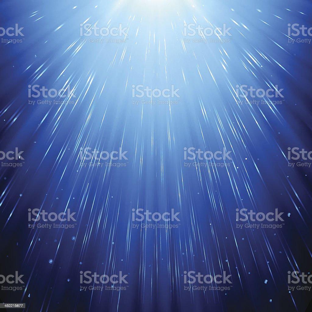 Blue Rays Background vector art illustration