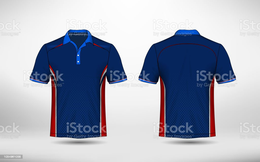 cea3e3b17 Blue Red And White Layout Esport Tshirt Design Template Stock Vector ...