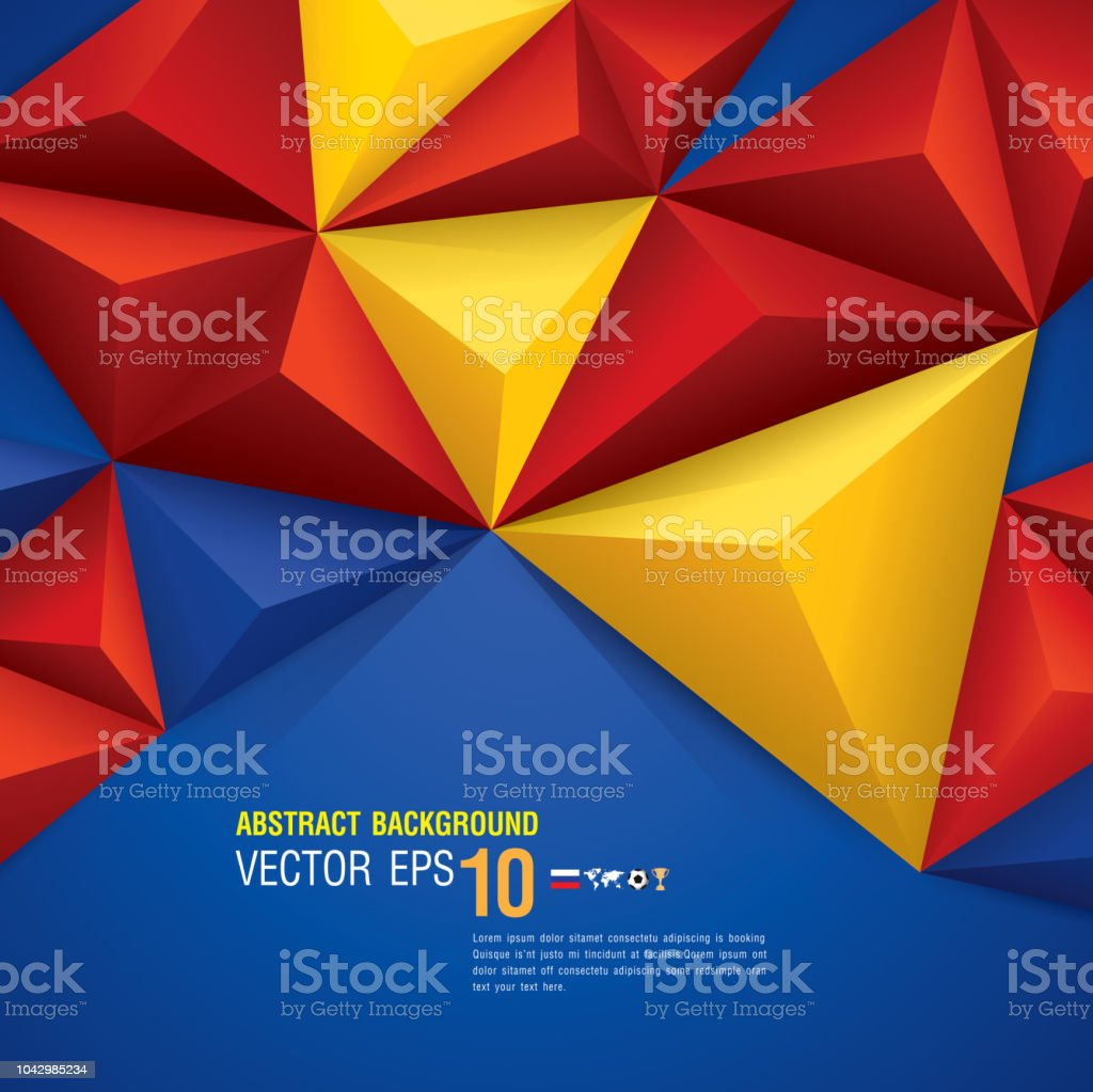 Blue Red And Yellow Abstract Background Vector Stock