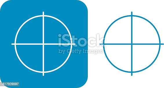 Blue Registration Mark Icons Stock Vector Art More Images Of