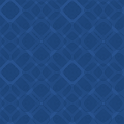 blue repetitive background. vector arcs. abstract seamless pattern. fabric swatch. wrapping paper. continuous print. geometric shapes. design element for textile, decor, apparel, phone case