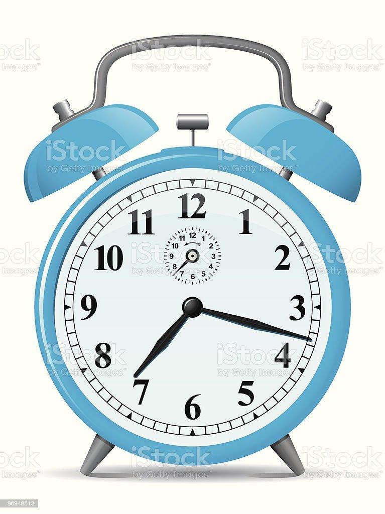 Blue retro alarm clock royalty-free blue retro alarm clock stock vector art & more images of alarm clock