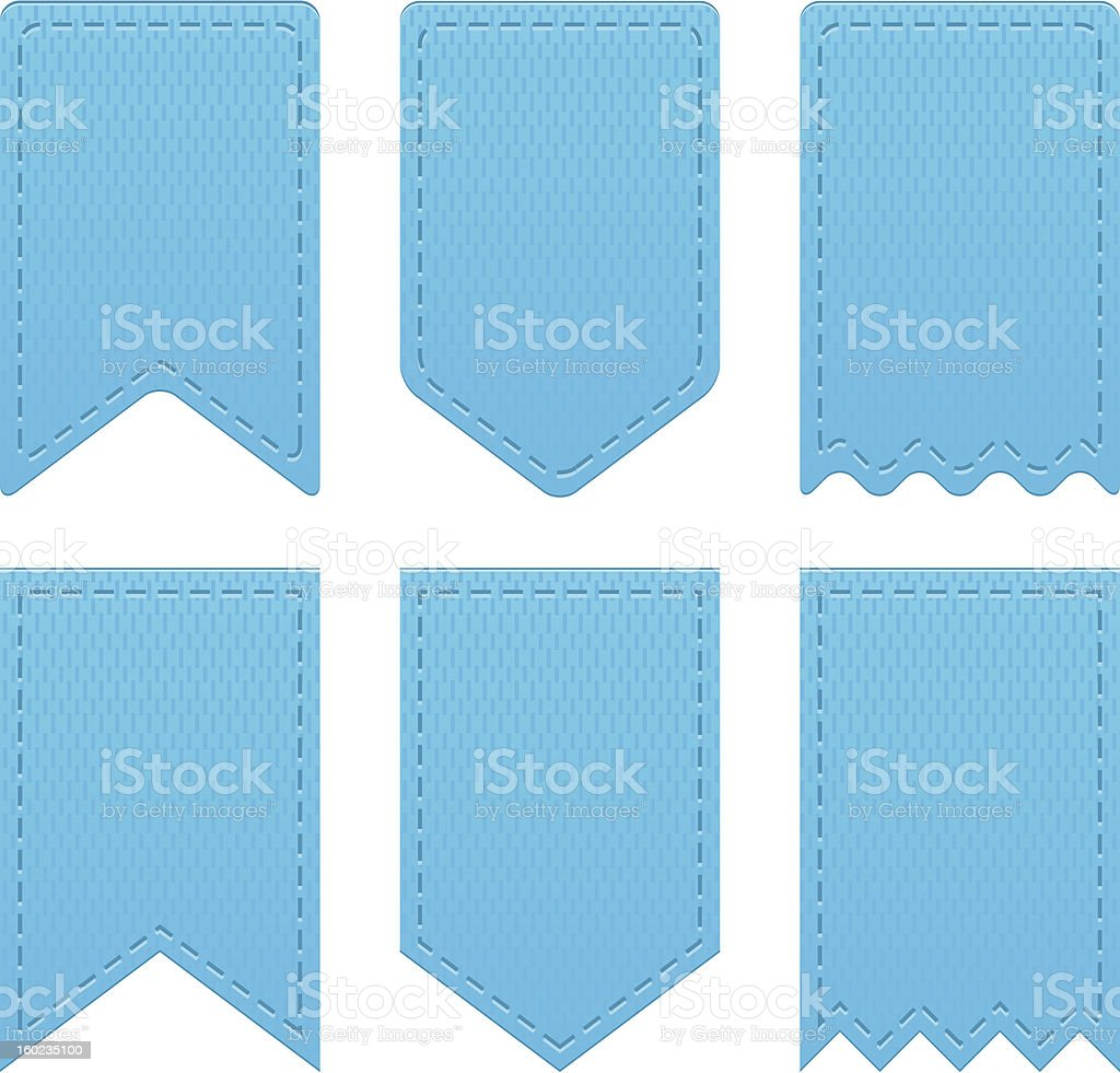 Blue retro ribbons royalty-free stock vector art