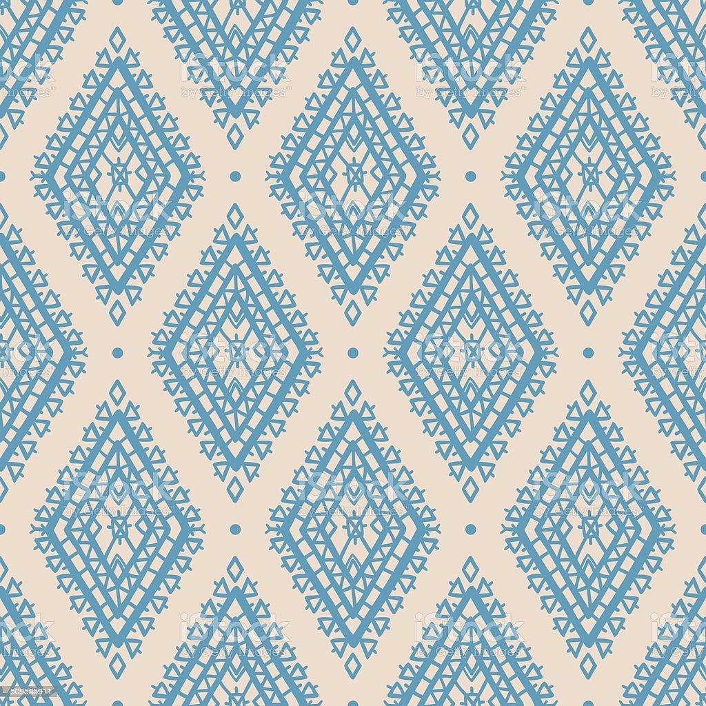 blue rhombuses vector art illustration