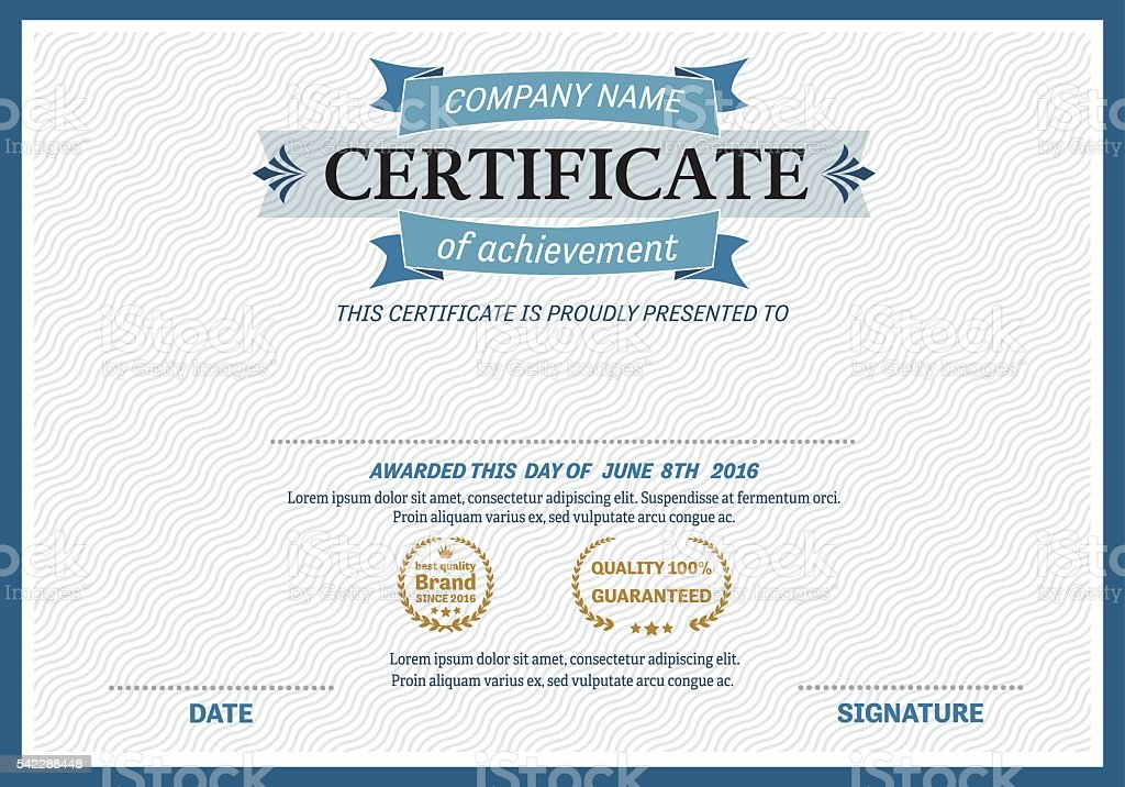 Blue ribbon certificate diploma template vector illustration stock blue ribbon certificate diploma template vector illustration royalty free stock vector art yadclub Image collections