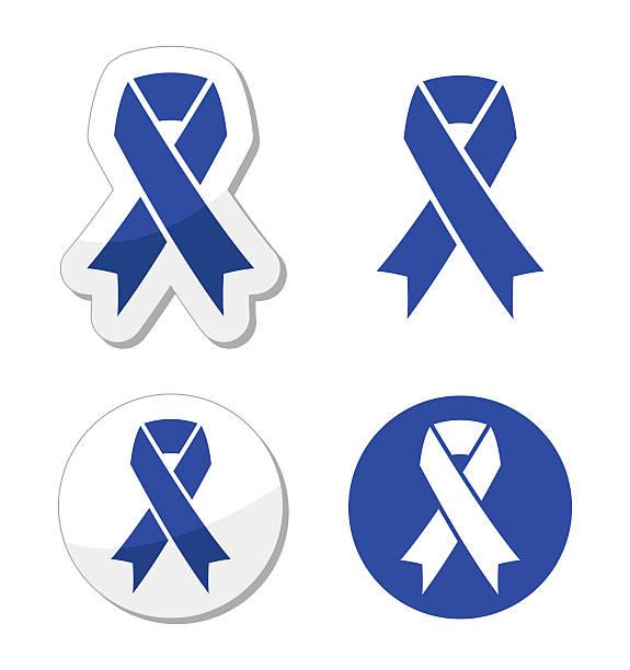 blue ribbon - drunk driving, child abuse, anti-tobacco awareness symbol - child abuse stock illustrations
