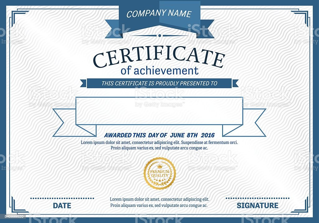 Blue ribbon hipster design certificate diploma template vector blue ribbon hipster design certificate diploma template vector illustration royalty free stock vector art yadclub Image collections