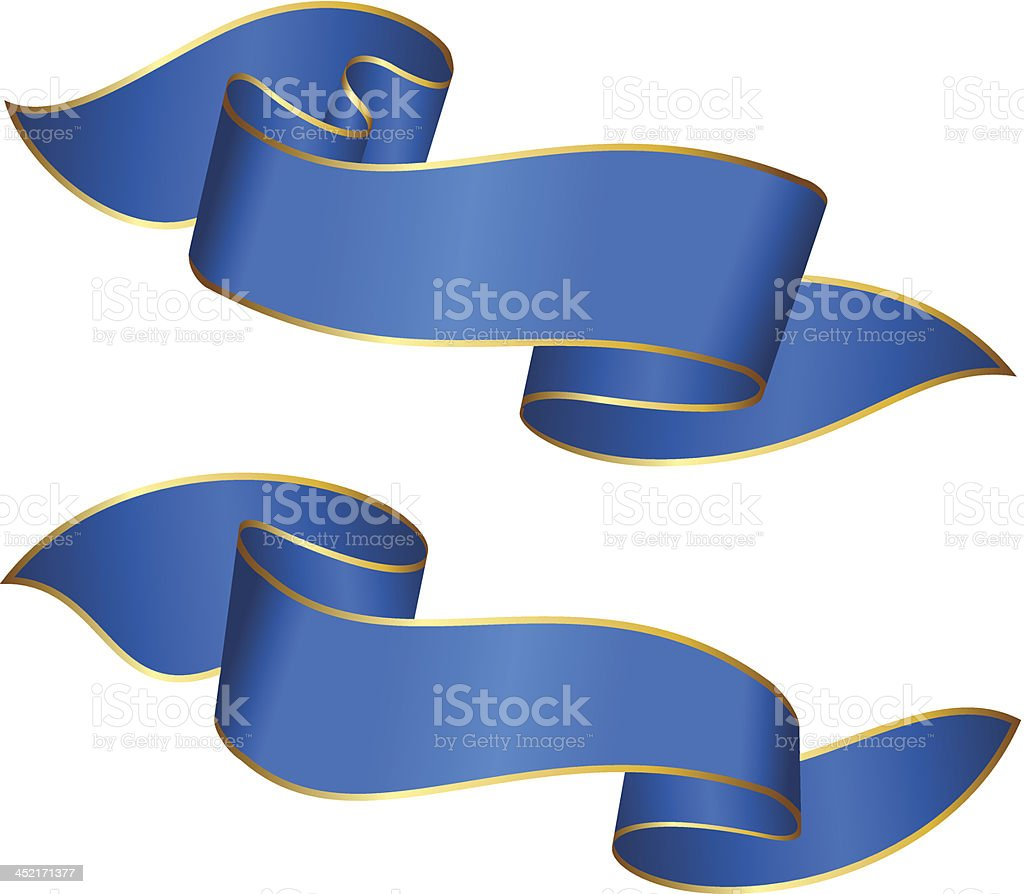Blue ribbons royalty-free stock vector art